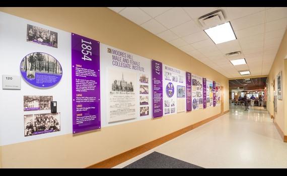 University of Evansville History Wall